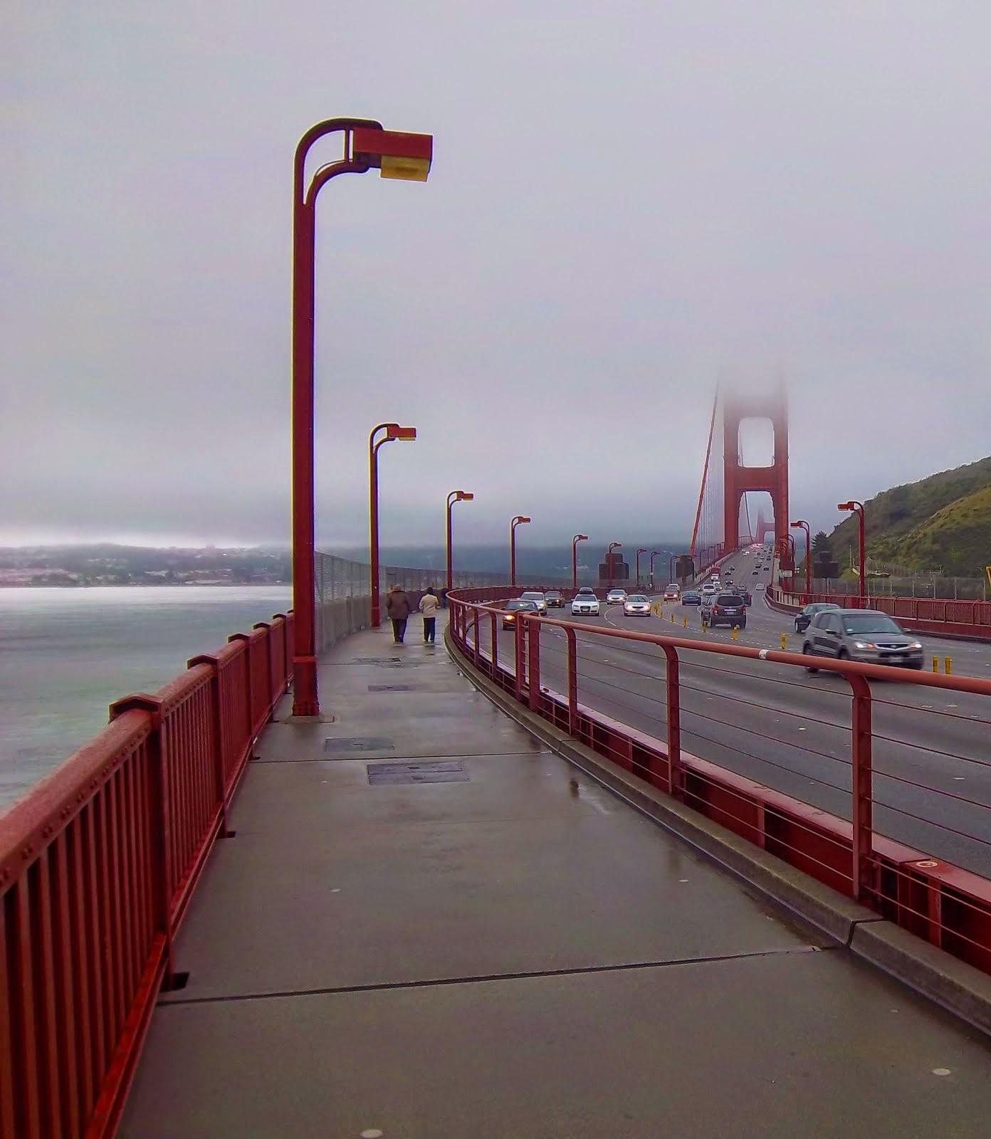 Running the Golden Gate Bridge in San Francisco