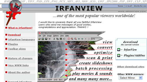 Irfan View Free Photo Editing Software