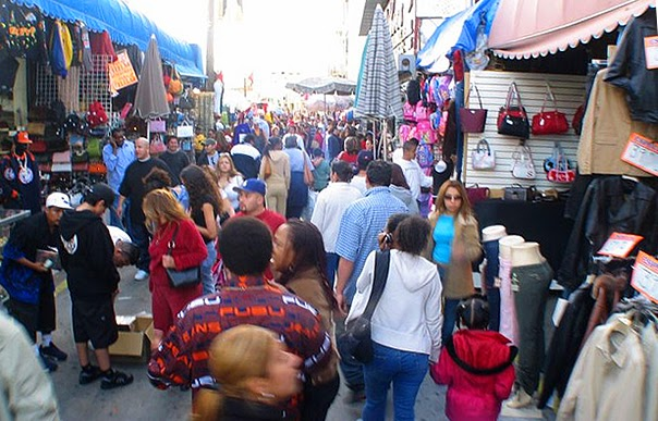 Back to los angeles sonoran hot dogs and santee alley for Fashion jewelry district los angeles