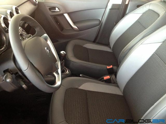 Novo Citroen C3 2013 - interior - bancos