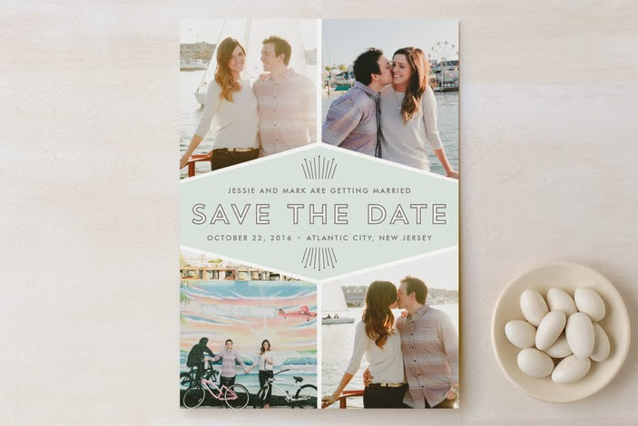 art deco them photo save the date