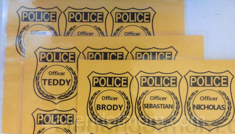 Gorra y placa de policía. Tutorial con Imprimible. | Ideas y ...