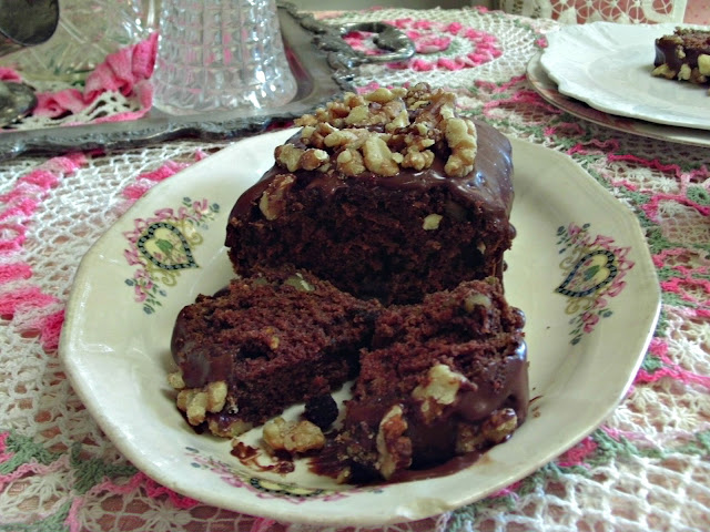 double chocolate double nut zucchini bread  Penny's Vintage Home