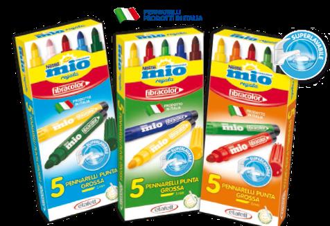 set omaggio di pennarelli fibracolor con i formaggini MIO