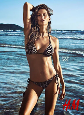 Gisele Bundchen show sexy body in H&M sexy bikini models