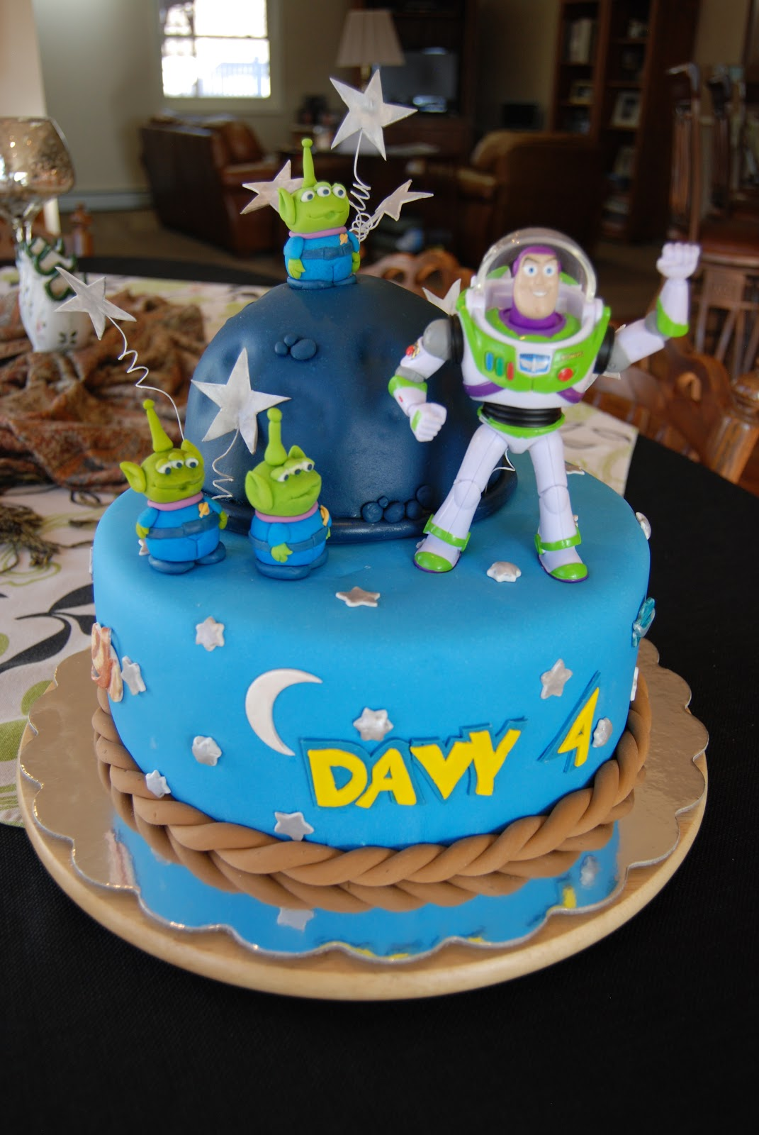 Gamma Susies This N That Davys Fourth Birthday Cake Buzz