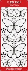 Butterfly embroidery peel off stickers at Foil Play
