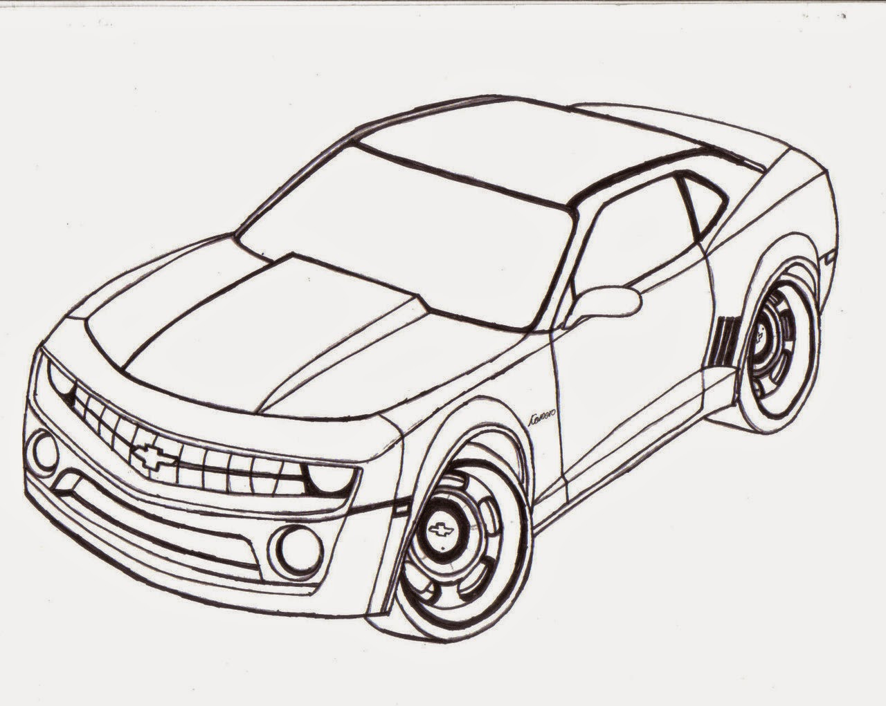 Cars For Kid Coloring Page Free Wallpaper