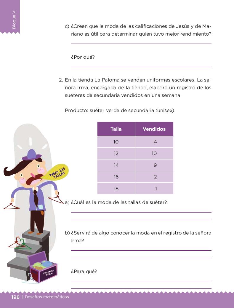 Cuando la moda se acomoda - Desafios matemáticos 4to Bloque 5 2014-2015