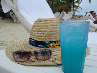 Pretty blue drink by Jennifer Bogart