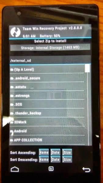 Cara Pasang/Install TWRP di Xiaomi Redmi 1S
