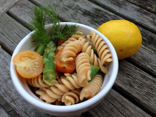 Lemon Dill Vegan Pasta Salad, Gluten-free and Food Allergy Friendly, too.