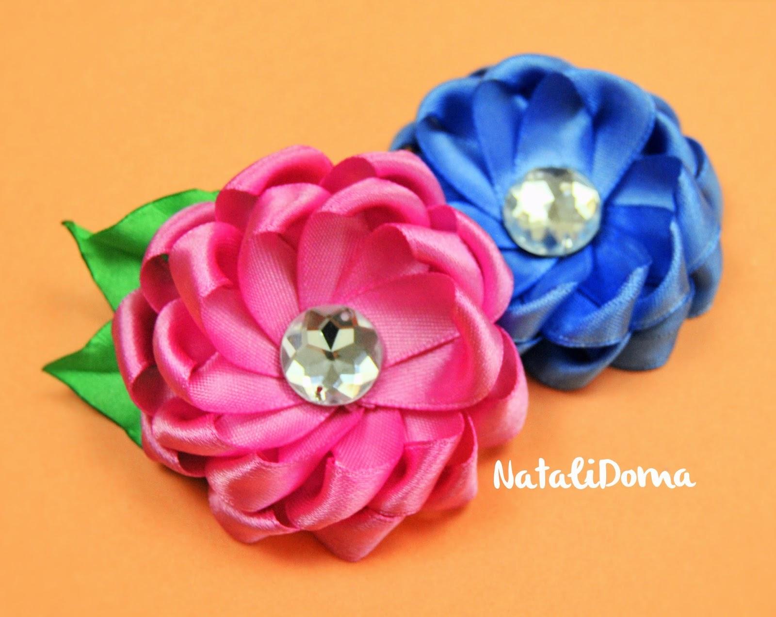 Цветы из лент: 15 простых цветов - Блог Анастасии Скореевой 43