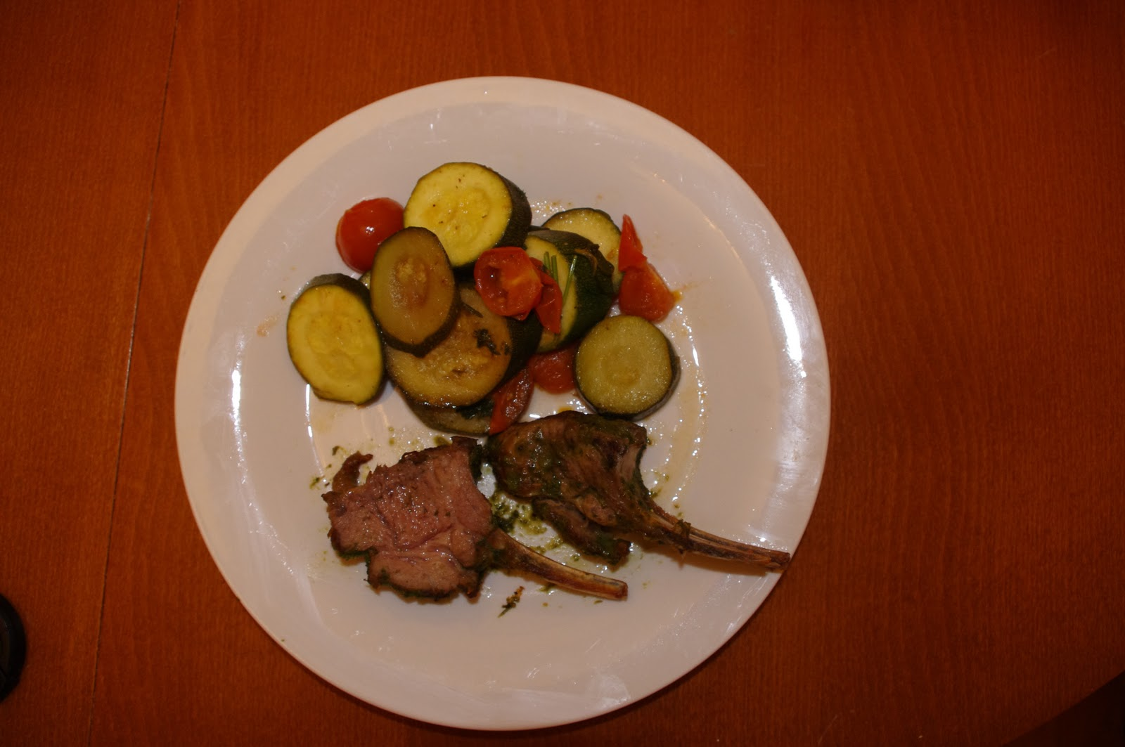 Herb Crusted Rack Of Lamb Amp Zucchini Provencale Cook