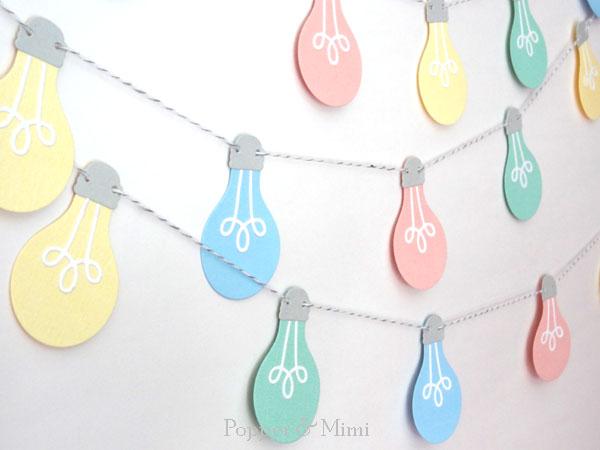 Paper Cafe Light Garland | popperandmimi.com