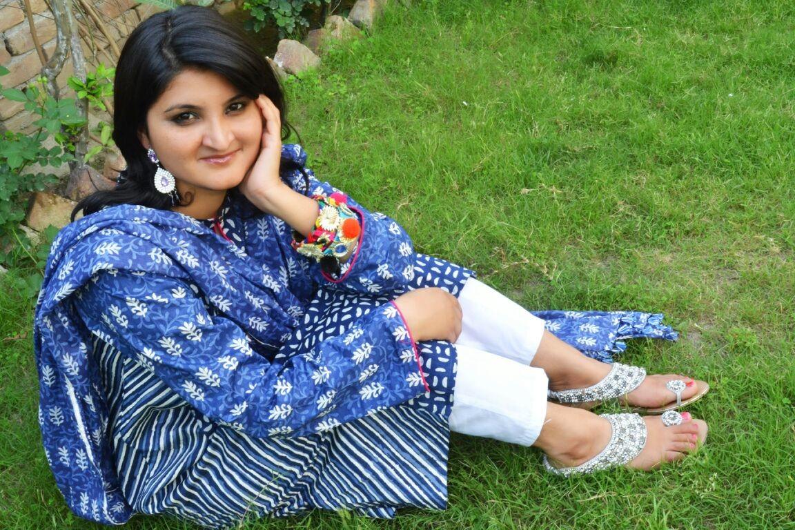 salma in her typical pakistani kudi look
