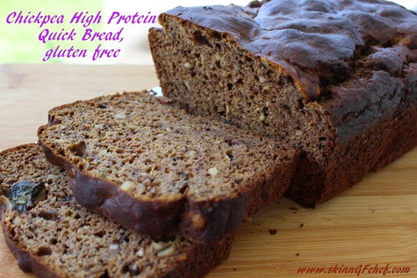 Chickpea High Protein Quick Bread, gluten free, sugar free, fat free, xanthan free