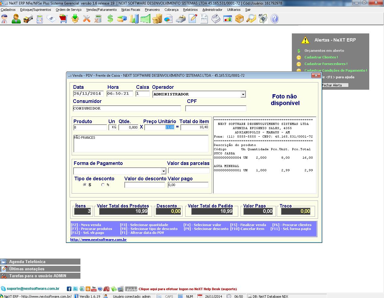NFC-e Nota Fiscal Eletrônica ao Consumidor NeXT ERP