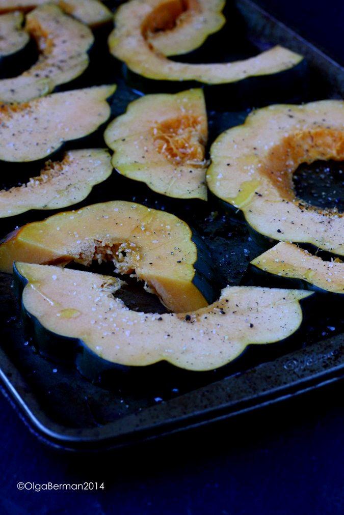 ... Miso: Roasted Acorn Squash With Miso Dressing & Black Sesame Seeds