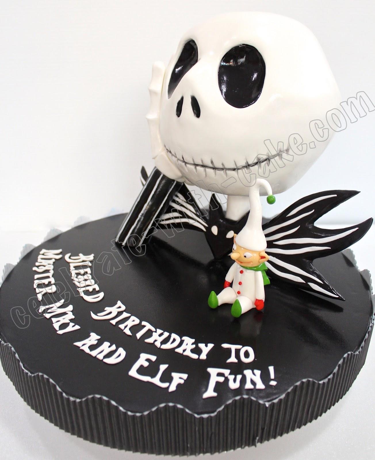 Celebrate With Cake Sculpted Tim Burton Jack Skellington Cake