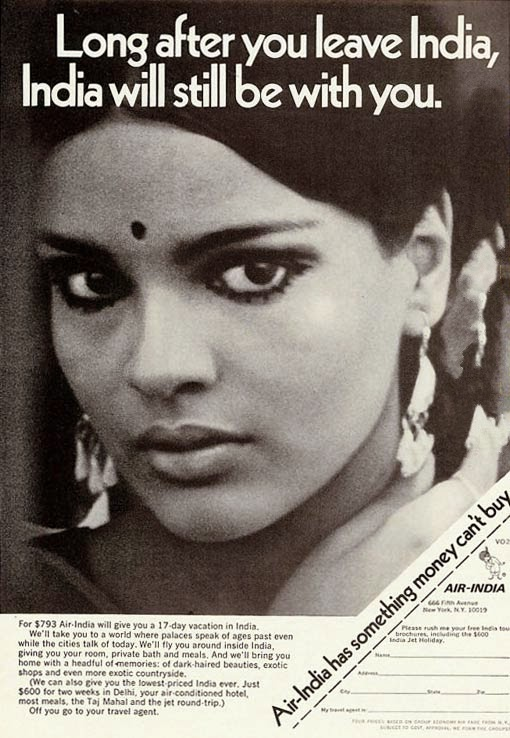 Zeenat Aman in Air India ad