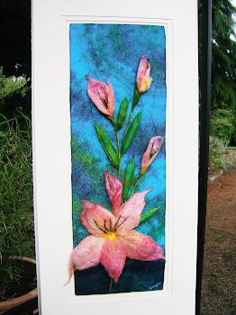 Silk and felt Flower
