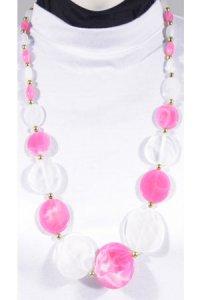 Kalung Lollypop - Putih Pink (Toko Jilbab dan Busana Muslimah Terbaru)
