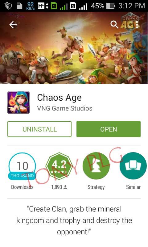 Chaos Age - Tony PLG