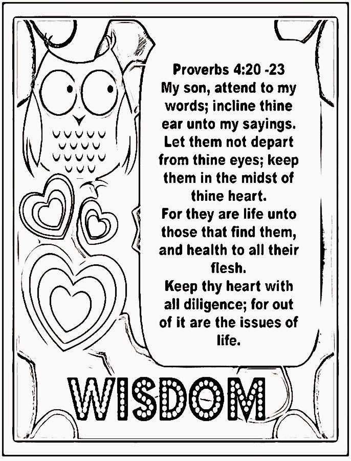kids coloring pages on wisdom - photo#4