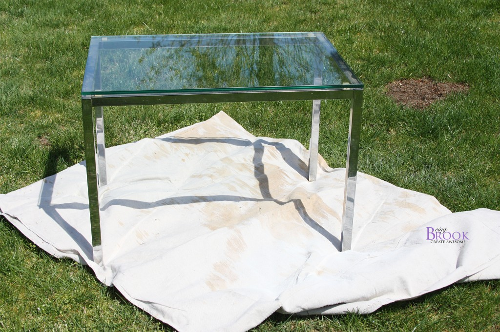 Beingbrook: Spray Painting Metal Table {Porch Spruce Up}