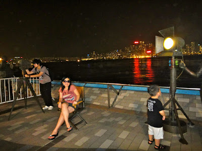 Taking pictures at Avenue of Stars Tsim Sha Tsui