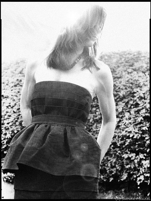 Psynopsis Acne Peplum Denim Dress