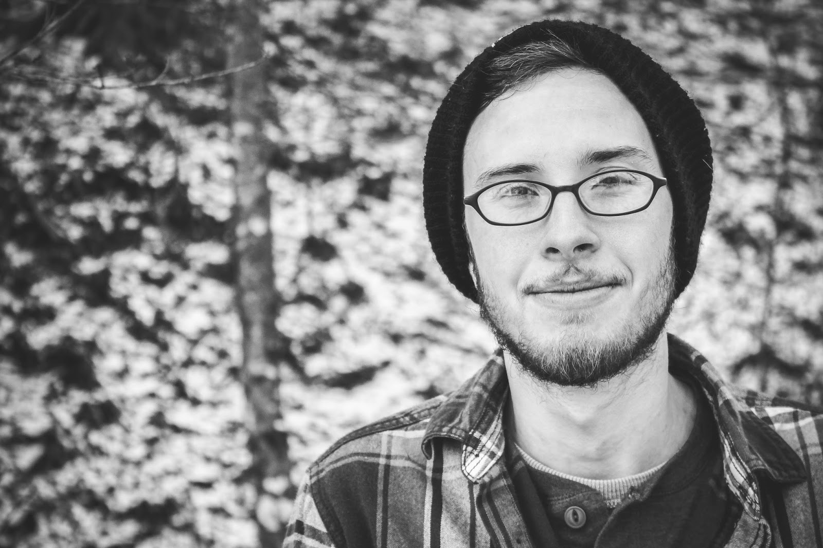 are we out of the woods yet snow georgia outdoors winter photography trees attractive beanie flannel glasses man