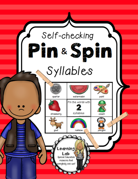 Syllables - A Pin & Spin Activity