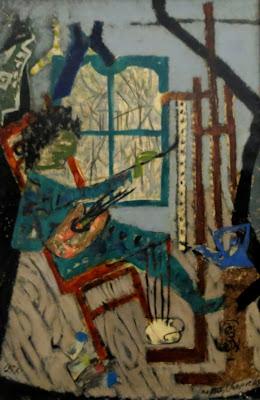 Яков Шапиро, Художник в мастерской, 1957