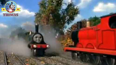 Thomas and friends Emily the tank engine James the really splendid red engine water for the tower