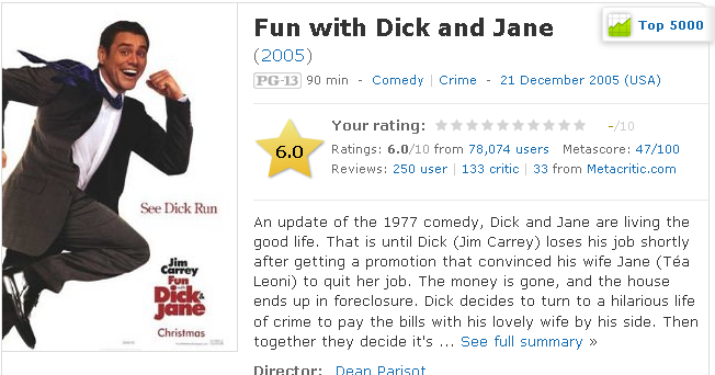 Fun with Dick and Jane Movie Review 2005 Roger Ebert