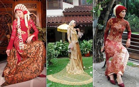 Itu tadi beberapa mode dari baju pengantin model jilbab terbaru 2013