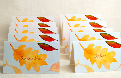 Autumn place cards autumn posters picture