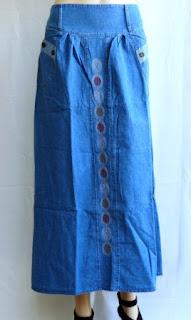 Rok Jeans Bordir Cantik Rm348