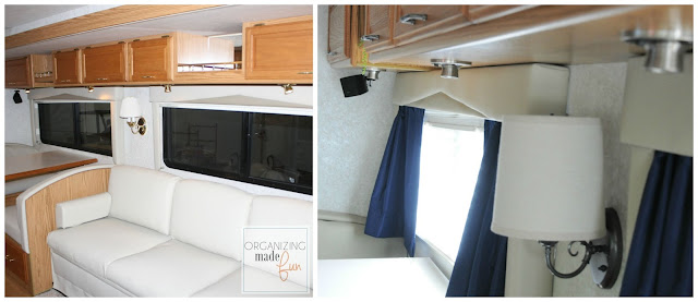 Before and After of brass fixtures in RV updated :: OrganizingMadeFun.com