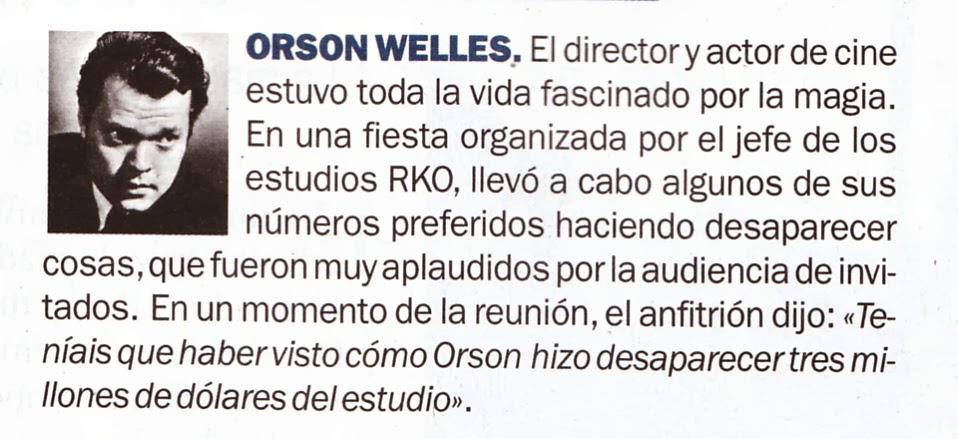 Orson, mago de primera.