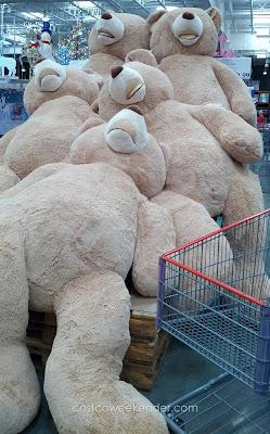 Get the hugs you deserve from the Hugfun 93-inch Plush Bear