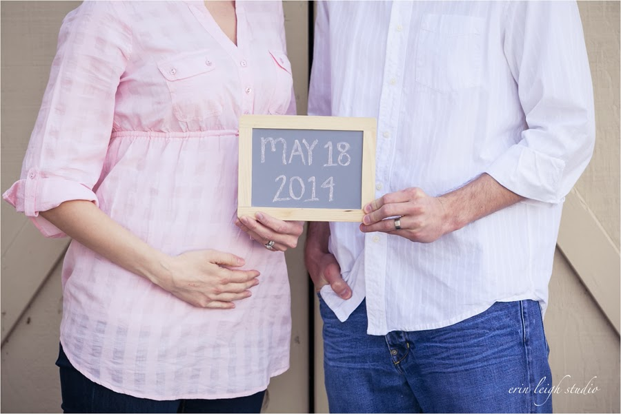 Pregnancy Announcement Photos with a chalkboard