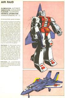 Air Raid (ficha transformers)