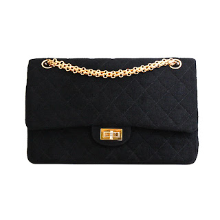 Vintage 1960's black Chanel 2.55 bag with gold chain strap and gold hardware