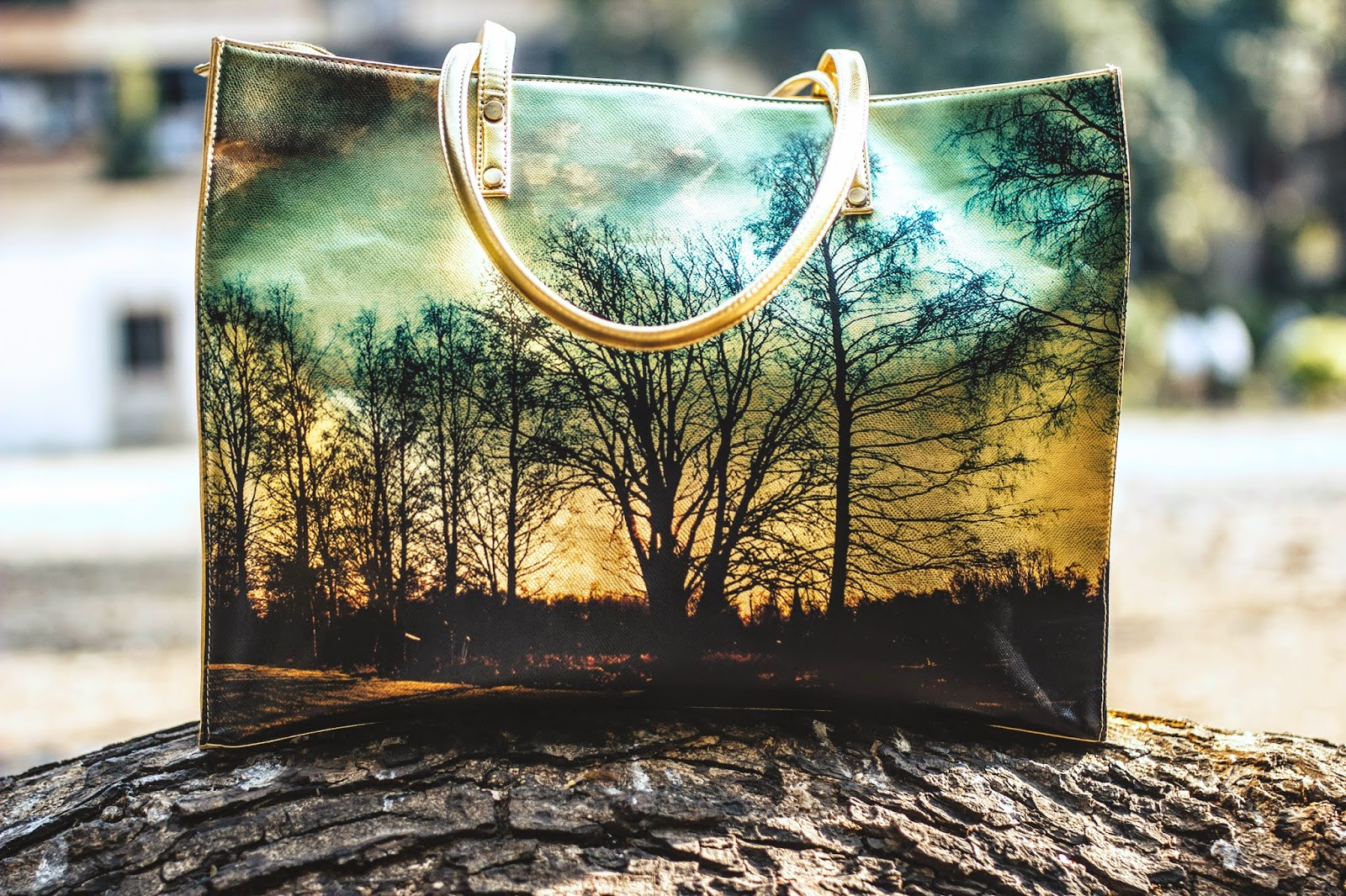 Love From India Scenic Printed Bag