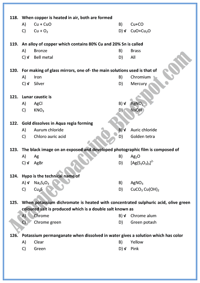 chemistry mcq with answers pdf