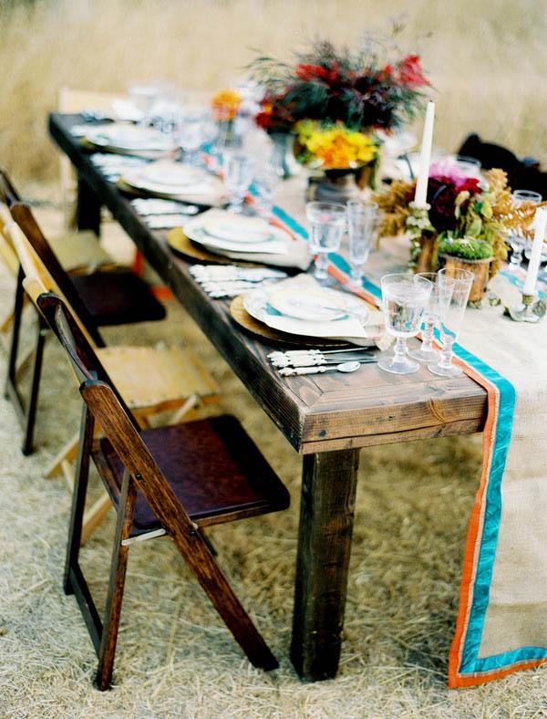 decoramos la mesa para comer en el jardn o la terraza