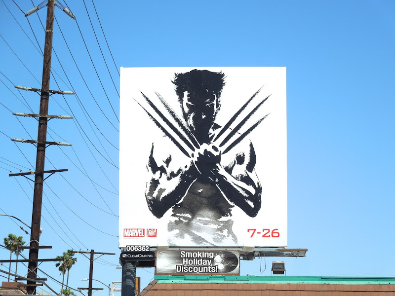 Wolverine claws billboard
